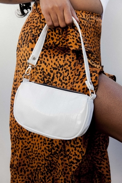 MINI BAG CROCCO MEL B. BLANCA (VEGAN)