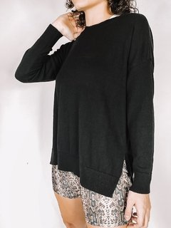 SWEATER KWN OVER BASIC NEGRO - comprar online