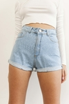 SHORT KWN DENIM RIGIDO CELESTE - KIWANO