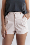 SHORT MILO LEATHER ROSA