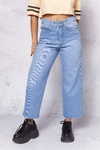 CROP MOM KWN DENIM