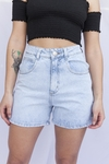 SHORT KWN MOM RETRO OVER CELESTE - comprar online