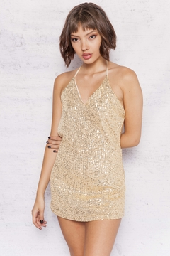 VESTIDO DIAMONDS SHINE GOLD - comprar online