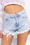 SHORT KWN DENIM SNOW