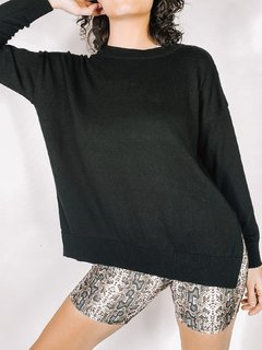 SWEATER KWN OVER BASIC NEGRO