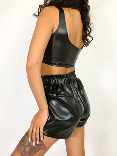 TOP LANA LEATHER NEGRO en internet