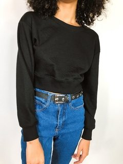 BUZO CROP BASIC NEGRO
