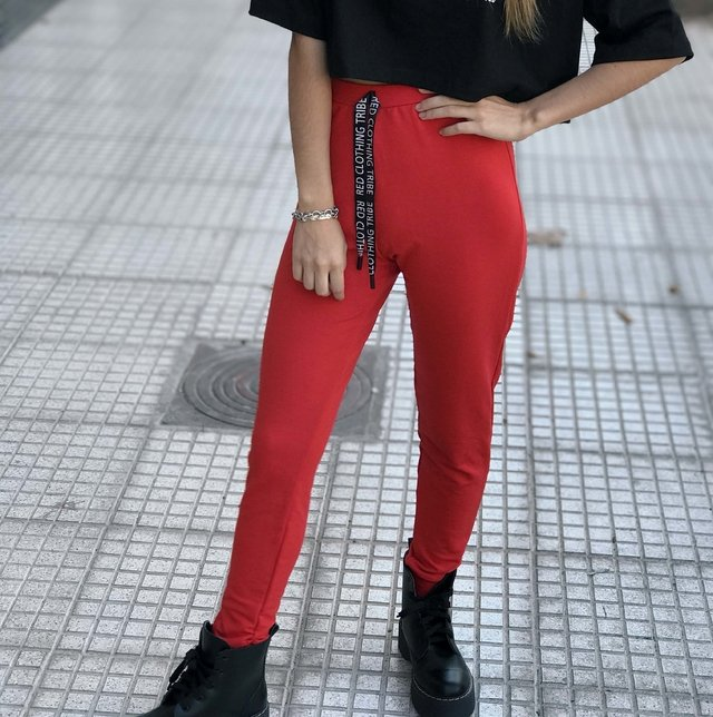 JOGGER RED CLOTHING ROJO