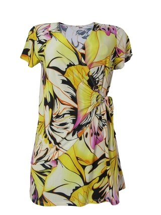 Blusa Transpassada Floral Yellow