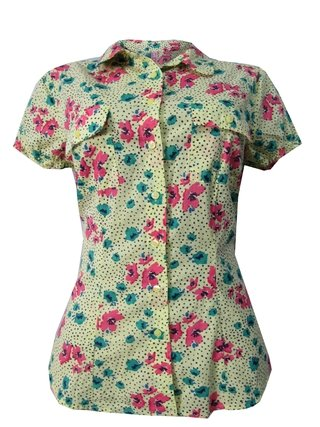 Camisa Floral Clock House
