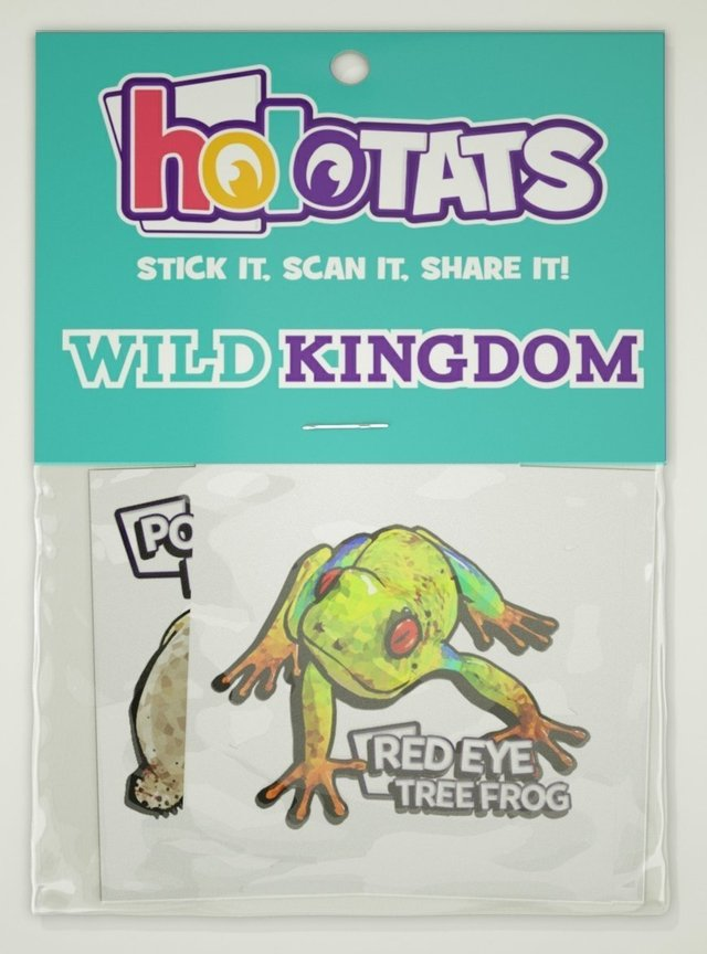 HoloTats Wild Kingdom Augmented Reality Temporary Tattoos (Set de 6 tatoo temporal en realidad aumentada )