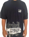Camiseta rap power lowrider lateral