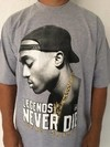 Camiseta Rap Power Tupac Never Die