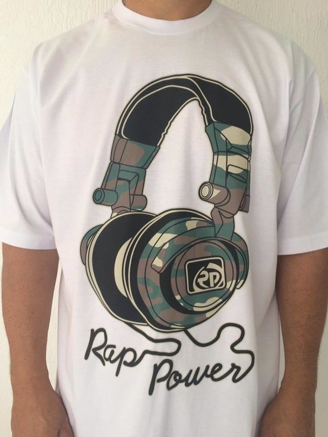 Camiseta Rap Power Fone Camuflado na internet