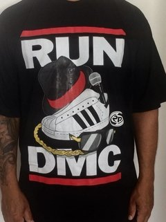 camiseta rap power rum dmc old school