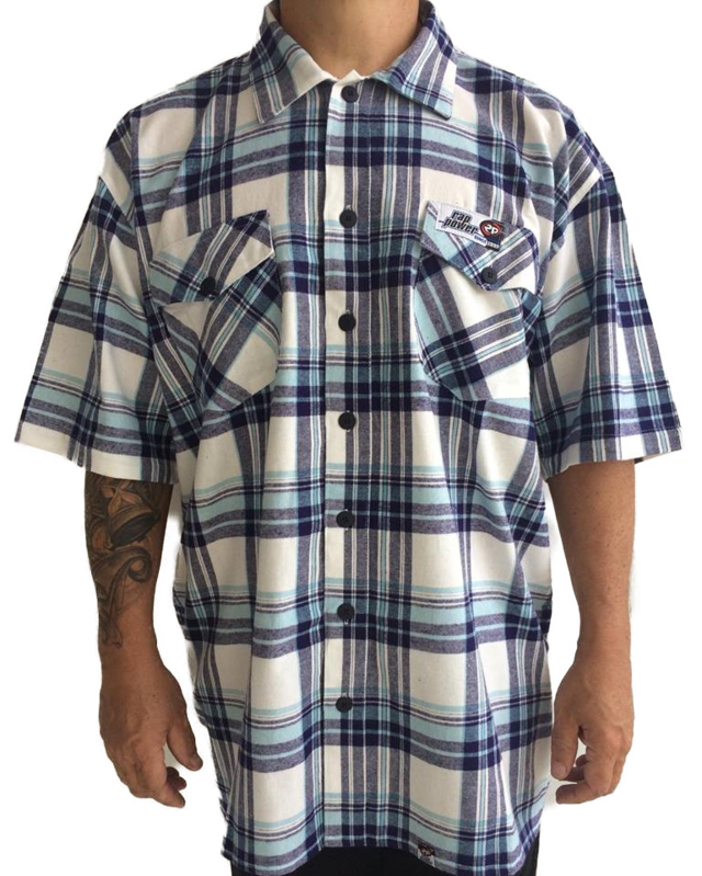 Camisa Rap power xadrez Flanela