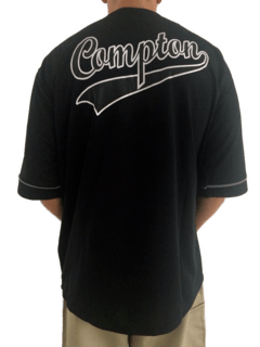 camisa baseball rap power compton