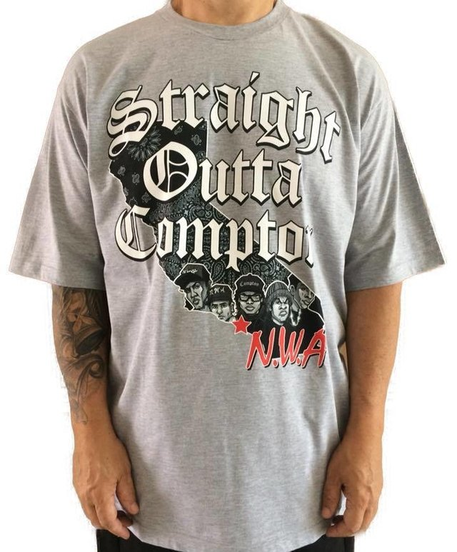Camiseta Rap Power Straight Compton na internet