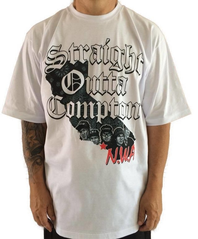 Camiseta Rap Power Straight Compton - Rap Power