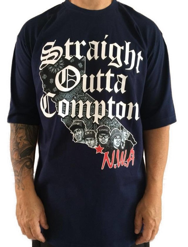 camiseta rap power compton