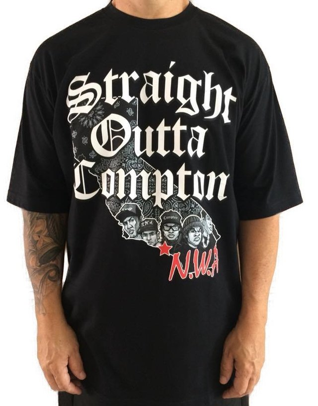 Camiseta Rap Power Straight Compton - loja online