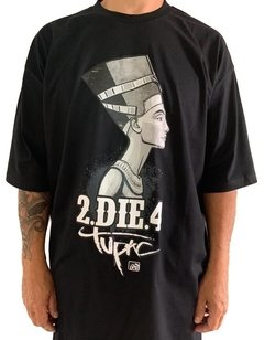 Camiseta tupac rap power die four na internet