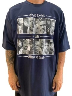 camiseta east coast x west coast rap power