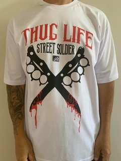 Camiseta Rap Power Thug Life Soldier - comprar online