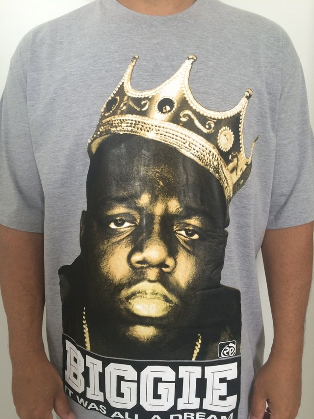 Camiseta Rap power Notorious Big king na internet