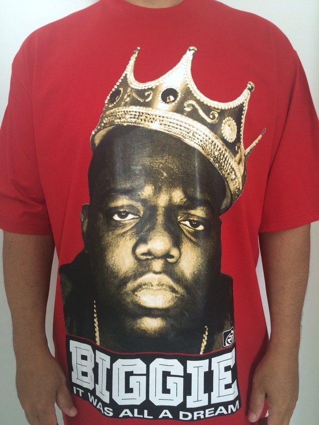 Camiseta Rap power Notorious Big king