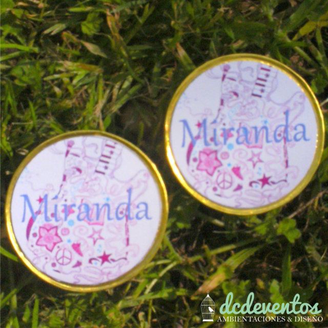 Monedas de chocolate personalizadas