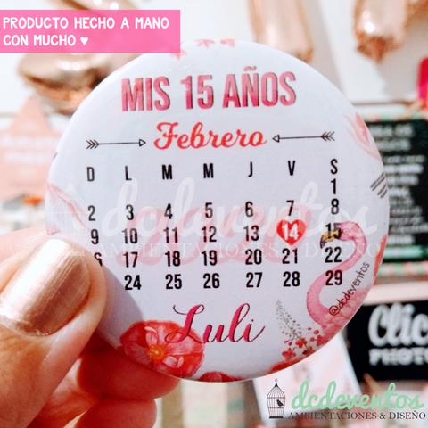 50 Pins Calendario Invitaciones 15 Años