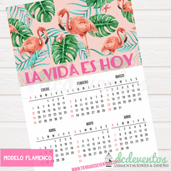 CALENDARIO 2020 TROPICAL FLAMENCO IMPRIMIBLE