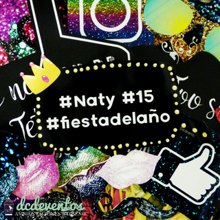 Kit para Photobooth glitter glam 15 años