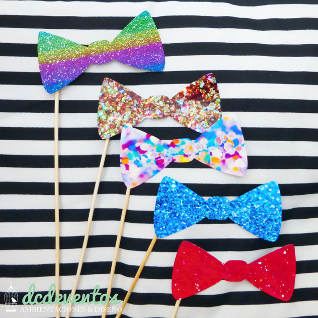 Kit para Photobooth glitter glam en internet