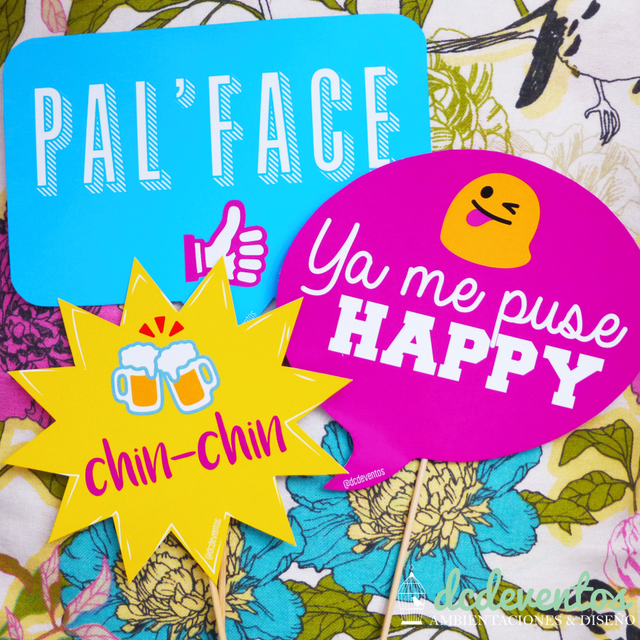 50 Carteles con frases para Photobooth