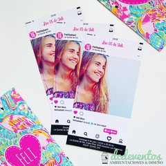 40 Invitaciones Instagram tropical - Tienda DCD Eventos