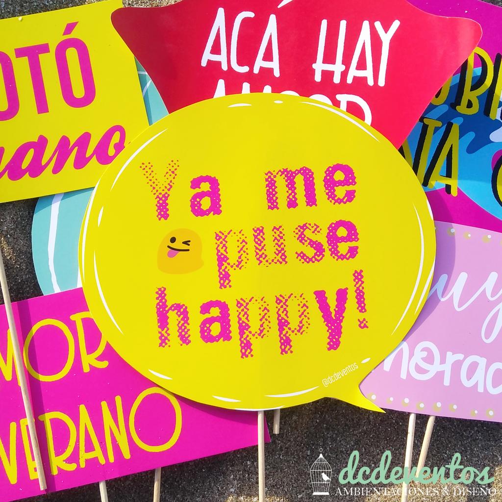 25 Carteles 15 Accesorios Con Frases Para Photobooth