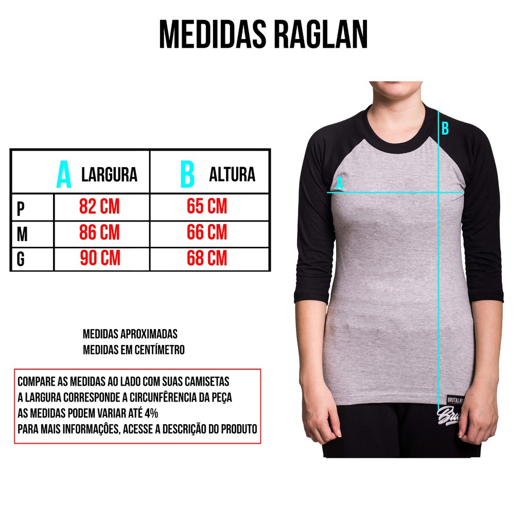 Raglan 3/4 feminina - Pin Up na internet