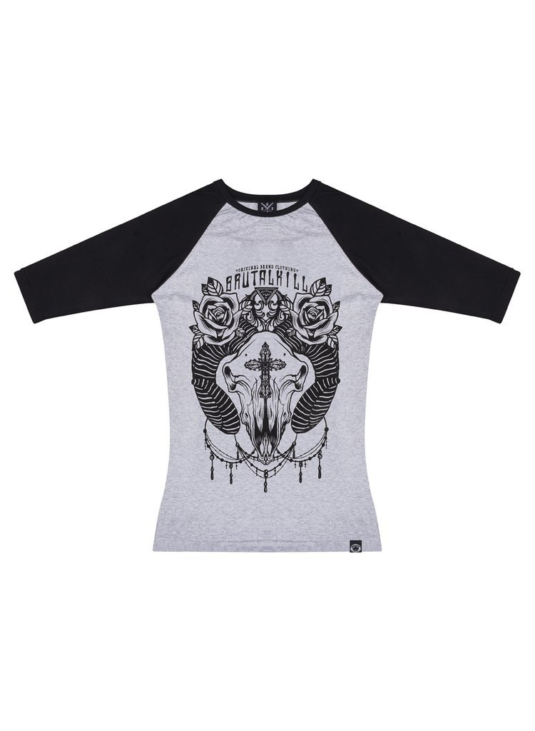 Raglan 3/4 feminina - Cross