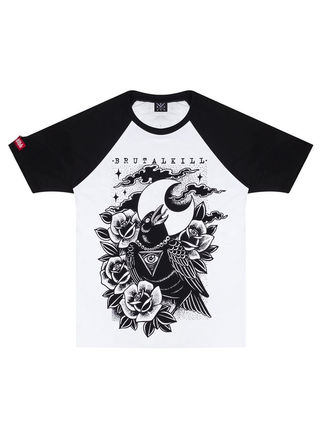 Raglan Manga Curta - Old Crow