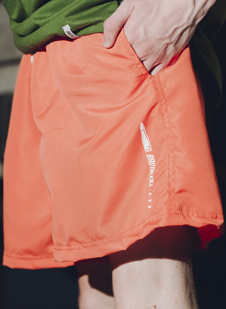 Boardshort - F**k The System - F.T.S Orange - loja online