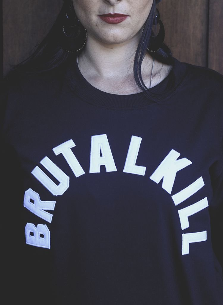 Moletom Careca Feminino - Supreme - Brutal Kill