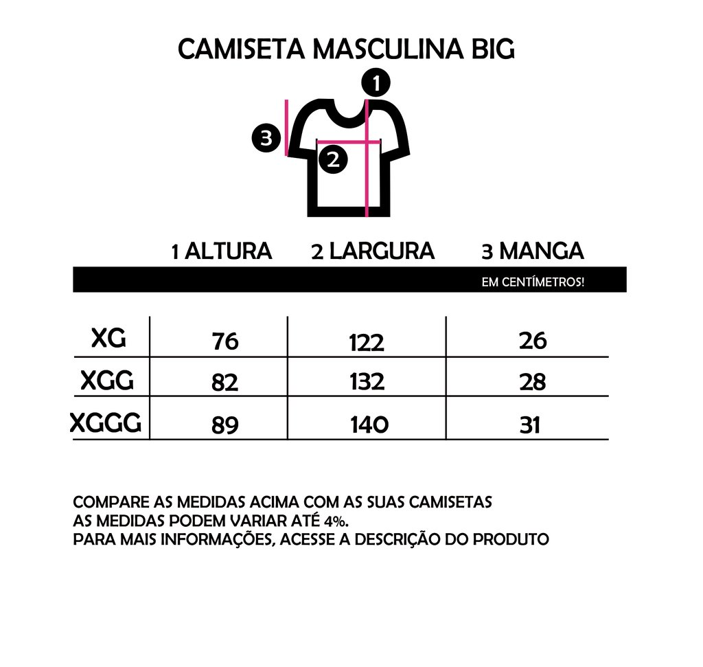 CAMISETA BIG (BASIC) - HARDCORE na internet