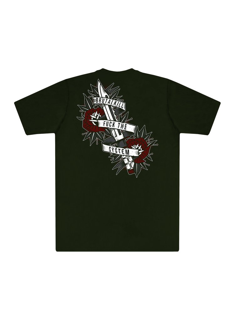 Camiseta F**k The System - Knife - comprar online