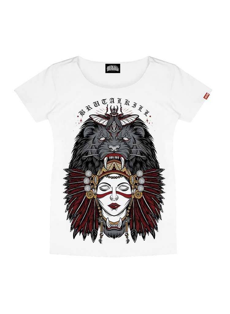 Camiseta Feminina - Lion Woman
