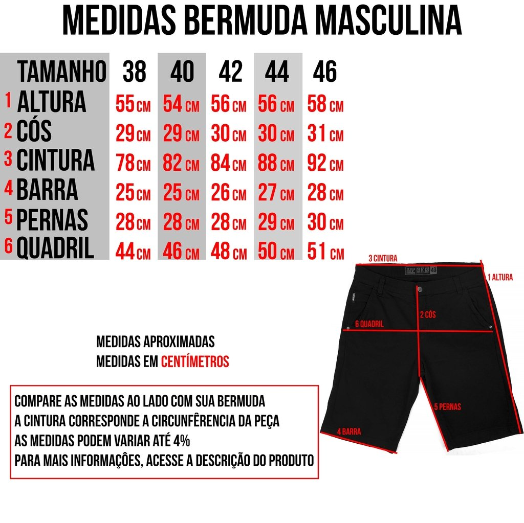 Imagem do Bermuda de Sarja - Force Black