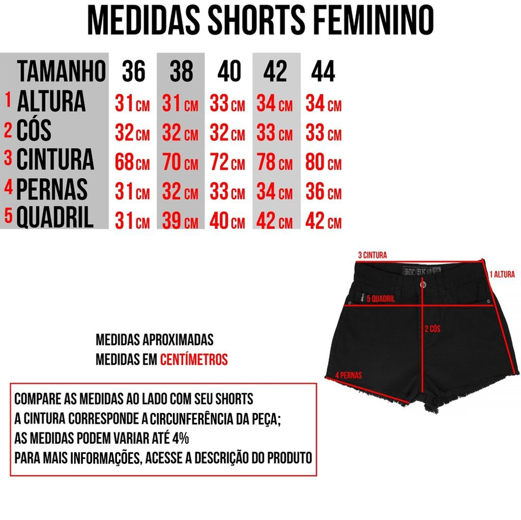 Short de Sarja - Force Black - loja online