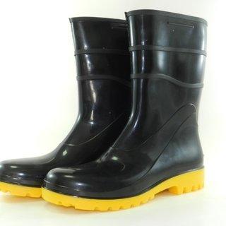 Bota - Calçado de Segurança Preto/amarelo PVC