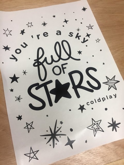 Frase You´re a sky full of Stars - comprar online